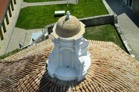 Slovenia, Piran, cupola of the chapel of John the Baptist in the picturesque village on Adriatic sea Stock Photo
