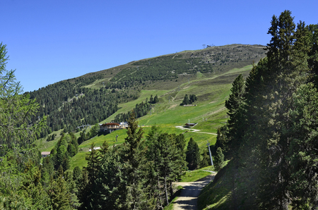 cable car: Austria, Tirol, cable car station on Hochzeiger mountain in Jerzens
