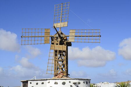 lanzarote: Spain, windmill in Teguise, Lanzarote, Canary Iceland,