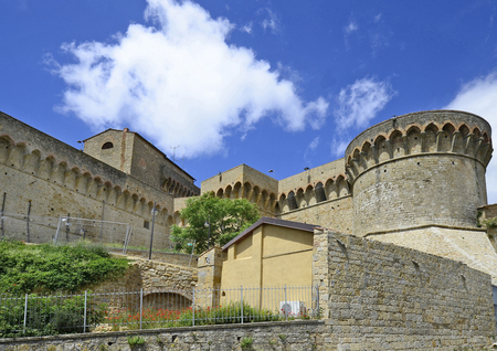 volterra: Italy, Volterra, fortress Fortezza Medicea,the fortress is now a prison Editorial