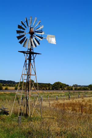 water supply: Australia, wind wheel for water supply on farm