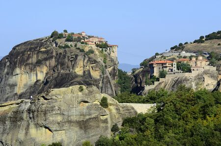 kalambaka: Greece, Meteora, Monasteries Varlaam and Great Meteoro
