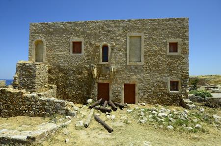 fortezza: Greece, Crete, Retymno, medieval building in fortezza Rethymno Editorial