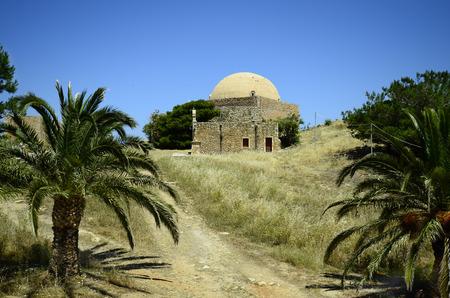 fortezza: Greece, Crete, Retymno, mosque sultan Ibrahim Han and bishops home in fortezza Rethymno Editorial