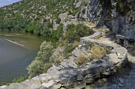 hiking trail: Greece, hiking trail along Nestos Gorge