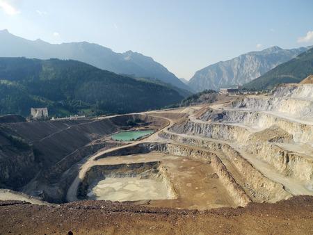 ore: Austria, Erzberg - surface mining of iron ore in Styria