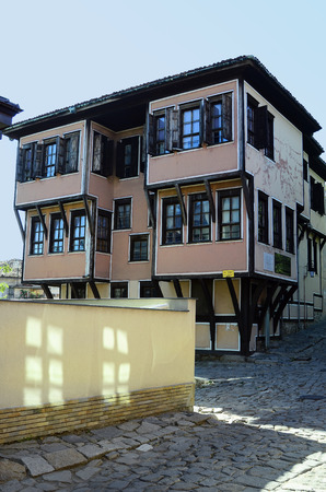 unesco culture heritage: Plovdiv, Bulgaria - September 23rd 2016: Unesco World Heritage site Old Town district, became European Capital of Culture 2019, Lamartines House