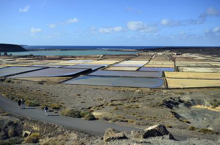 lanzarote: Spain, Salinas del Janubio in Lanzarote, Canary Island