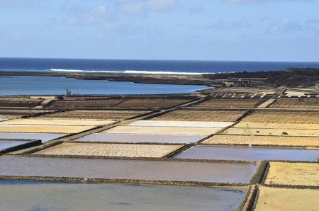 lanzarote: Salinas del Janubio, Lanzarote Island, Spain Stock Photo