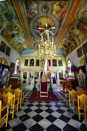 ionian: Greece, Zakynthos, inside church Panagia Chrysopigis Editorial