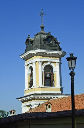Bulgaria, Plovdiv, church spire of The Assumtion Cathedral Stock Photo