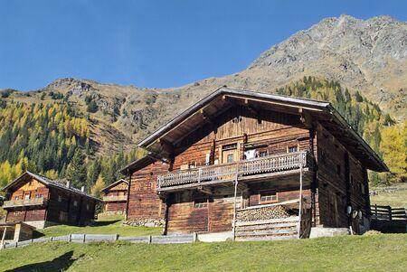 osttirol: Austria, mountain huts on Staller Alm in Villgratener valley