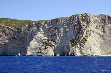 greece shoreline: Greece, Zakynthos Island, rocky coast