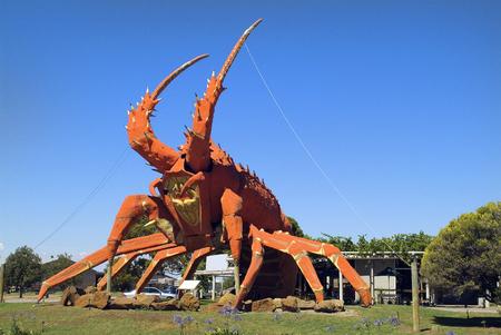 Kingston SE, Australia - January 26, 2008: Sculpture for The Big Lobster - landmark and sign for a restaurant