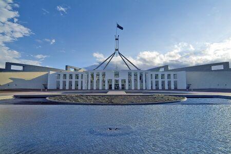Canberra: Australia, Parliament of Australia in Canberra Stock Photo