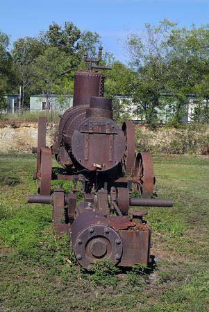 keystone: Australia, old mine equipment in Pine Creek, Northern Territory - steam engine for stone driller