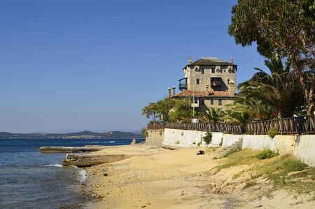 Greece, Athos Peninsula, Ournoupoli, Prosphorios-Tower