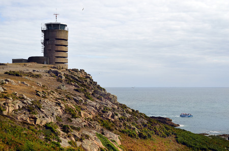 transmitting: UK, Jersey, German WWII watchtower and bunker at La Corbiere now used as transmitting station