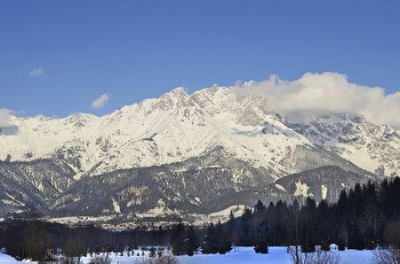 saalfelden: Austria, part of Austrian Alps, Steinernes Meer, mountain ridge forming border between Salzburg and Bavaria in Germany Stock Photo