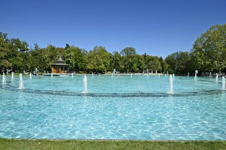 tsar: Bulgaria, Plovdiv, lake with singing fountains in Tsar Simeon garden