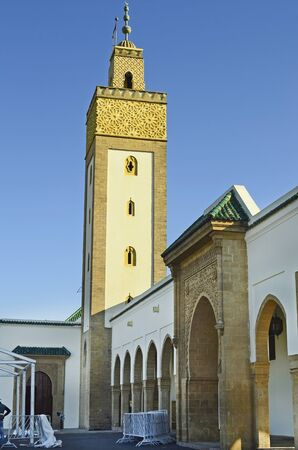 minaret: Morocco, Rabat, mosque and minaret