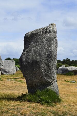 alignement: France, megalith stones in of Carnac