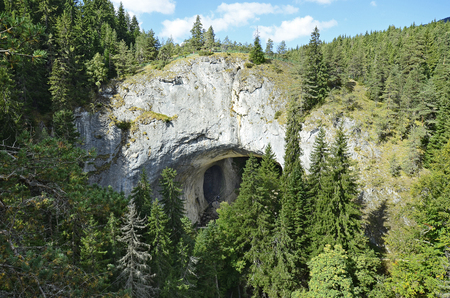 Bulgaria, natural arches named Wonder Bridges in Rhodope mountains, a natural site of interest Standard-Bild