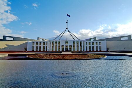 Australia, Parliament of Australia in Canberra 報道画像