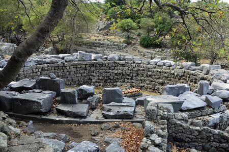 rotunda: Greece, Samothrace, Sanctuary of the great gods in Palaeopolis, ancient monument of Cabeiri