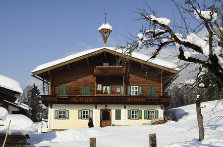 farmstead: Austria, farmstead in traditional architecture in Tyrol