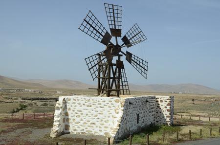 archtecture: Spain, Canary Island, Fuerteventura, old windmill near Tefia