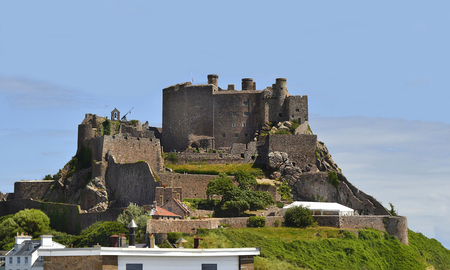 United Kingdom, Jersey Island, Mont Orgueil Castle aka Gorey castle