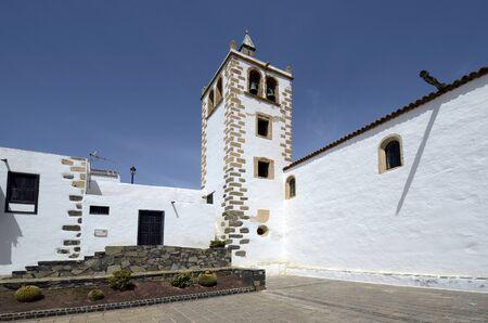 Spain, Canary Island, Fuerteventura, bell tower of church Santa Maria de Betancuria