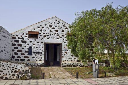 La Oliva, Fuerteventura, Spain - April 01, 2017: Agricultural museum named Casa la Cilla in the village in Canary island