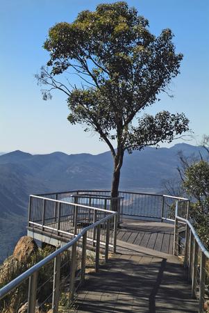 Australia, view from Boroka Lookout to Halls Gap and Lake Bellfield in Grampians nationalpark