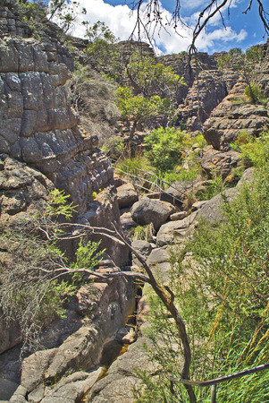 Australia, rock formation and path in Grand Canyon of Grampians nationalpark in Victoria Lizenzfreie Bilder