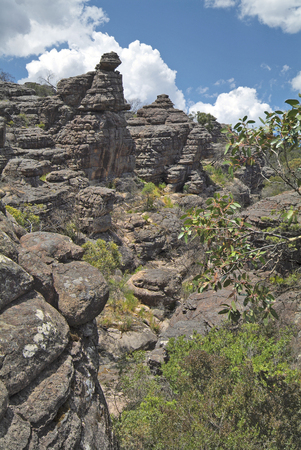 Australia, rock formation in Grand Canyon of Grampians nationalpark in Victoria