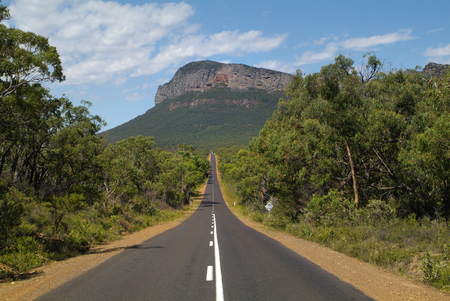Australia, straight road to Mount Abrupt - the south end of Grampians nationalpark