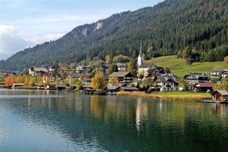 Austria, Carinthia, village on Weissensee lake