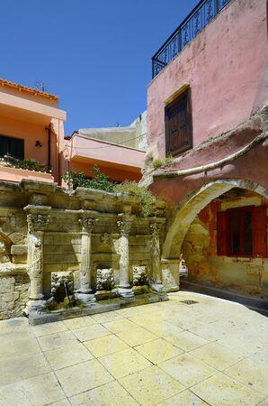 Greece, Crete, medieval Raimondi fountain in Rethymno