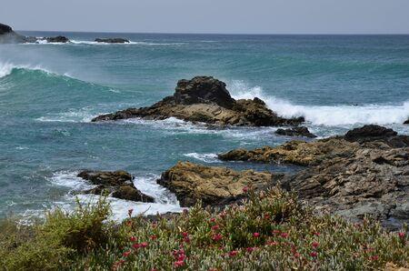 Spain, Canary Island, Fuerteventura, coast in El Puerte de Los Molinos, Lizenzfreie Bilder