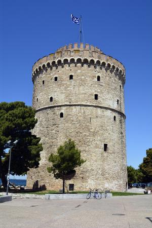 Greece, Thessaloniki aka Saloniki, the White Tower, landmark and former medieval prison Stock Photo