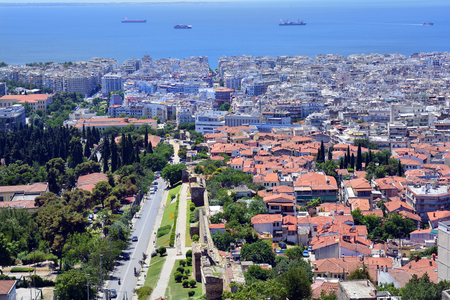 Greece, Thessaloniki aka Saloniki, cityscape view from old castle