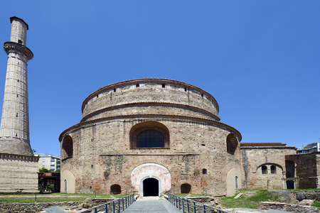 Greece, Thessaloniki aka Saloniki, Rotunda with minaret, medieval church and mosque