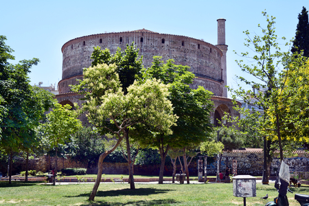 Greece, Thessaloniki aka Saloniki, ancient Rotunda - former church and mosque, now Unesco World heritage site