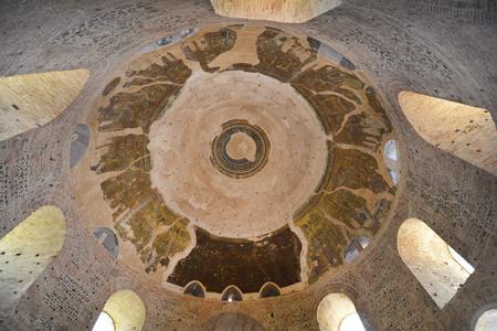 Greece, Thessaloniki aka Saloniki, cupola of Rotunda building with mosaic- former church and mosque, Unesco World heritage site