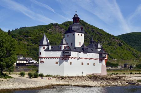 Germany, Rhine Valley, castle Pfalz aka Pfalzgrafenstein in Kaub village on Rhine river