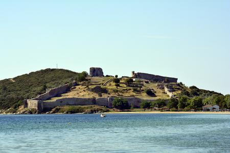 Griechenland, Kavala, Schloss Anaktoroupoli in Nea Peramos