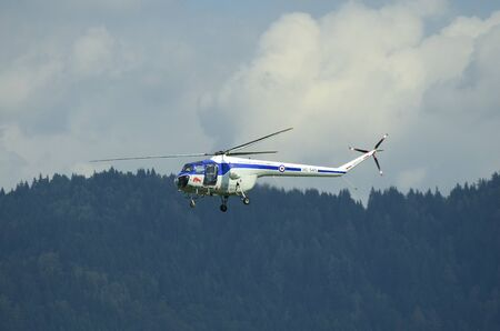 Zeltweg, Styria, Austria - September 02, 2016:  Helicopter Bristol 171 Sycamore by public airshow named airpower 16