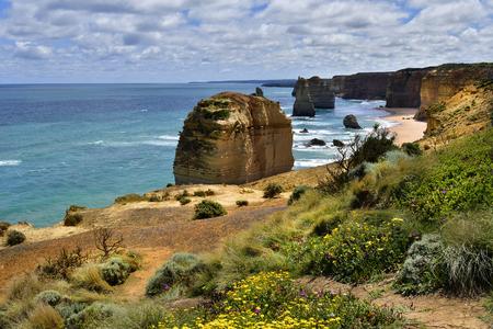 Australia, Victoria, Twelve Apostles rock formation in Port Campbell National Park